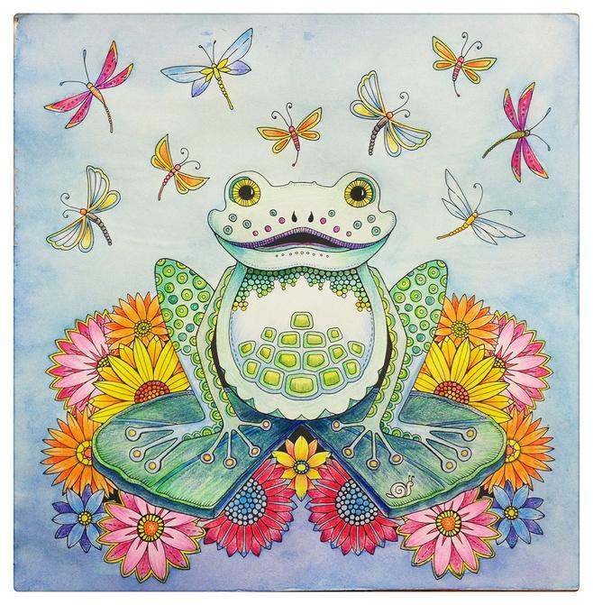 涂色,手绘,秘密花园,魔法森林|纯艺术|彩铅|糊涂虫dd