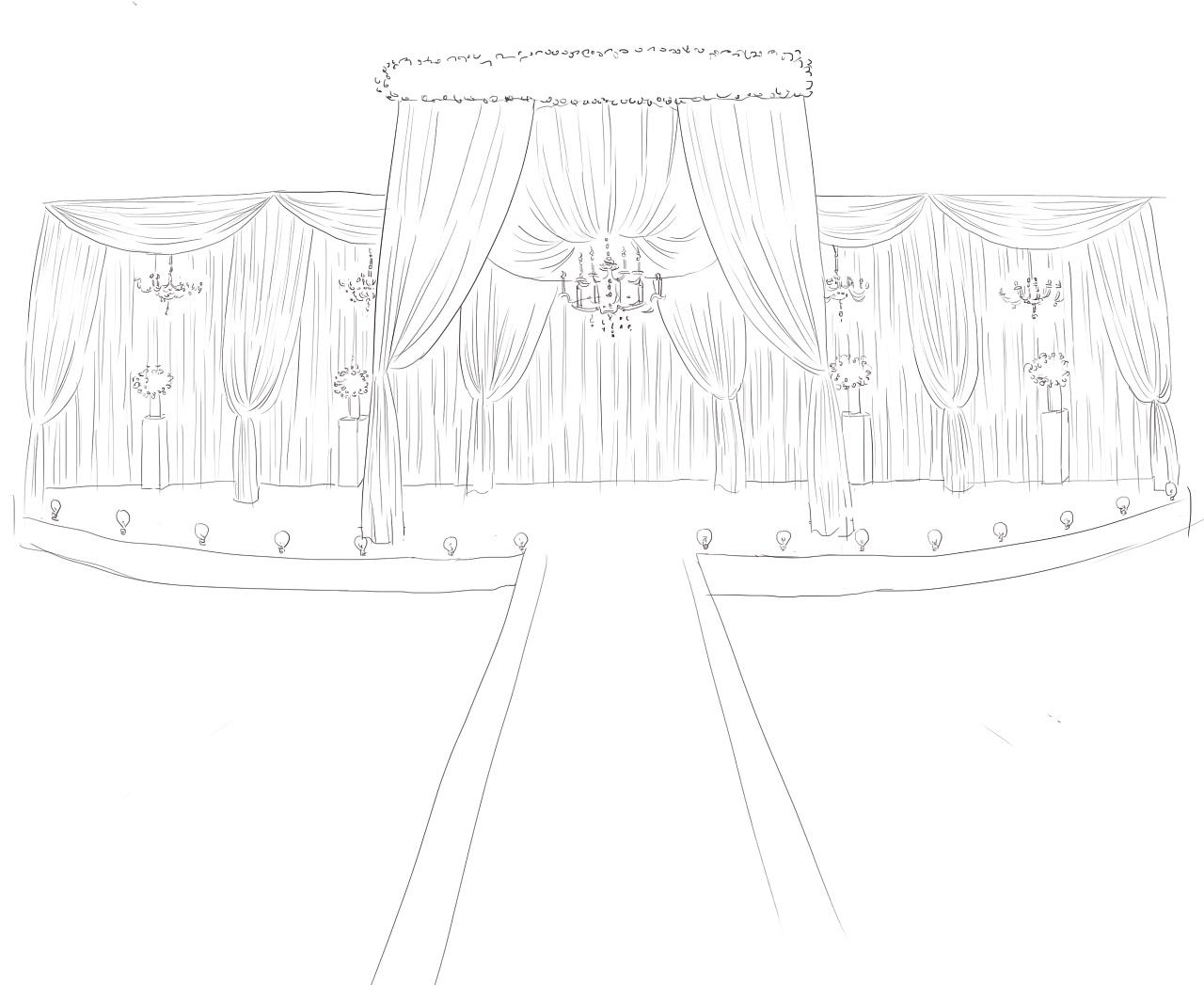 婚礼现场手绘图