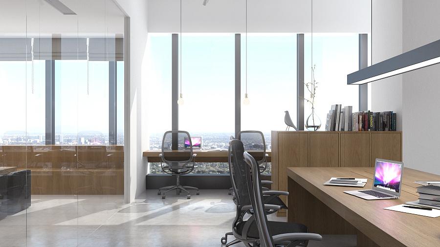 杏林湾房屋设计中心办公室/Simpleofficepro路边梯形商务运营平面图图片