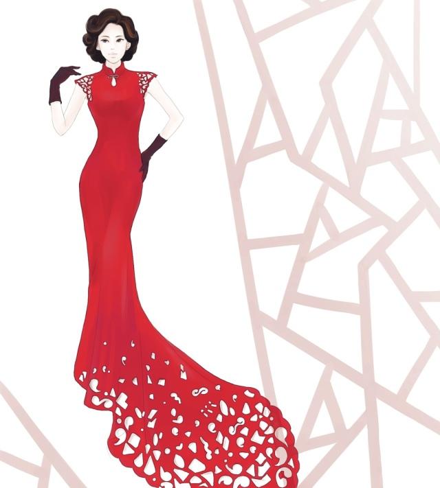 旗袍平面设计图片图片