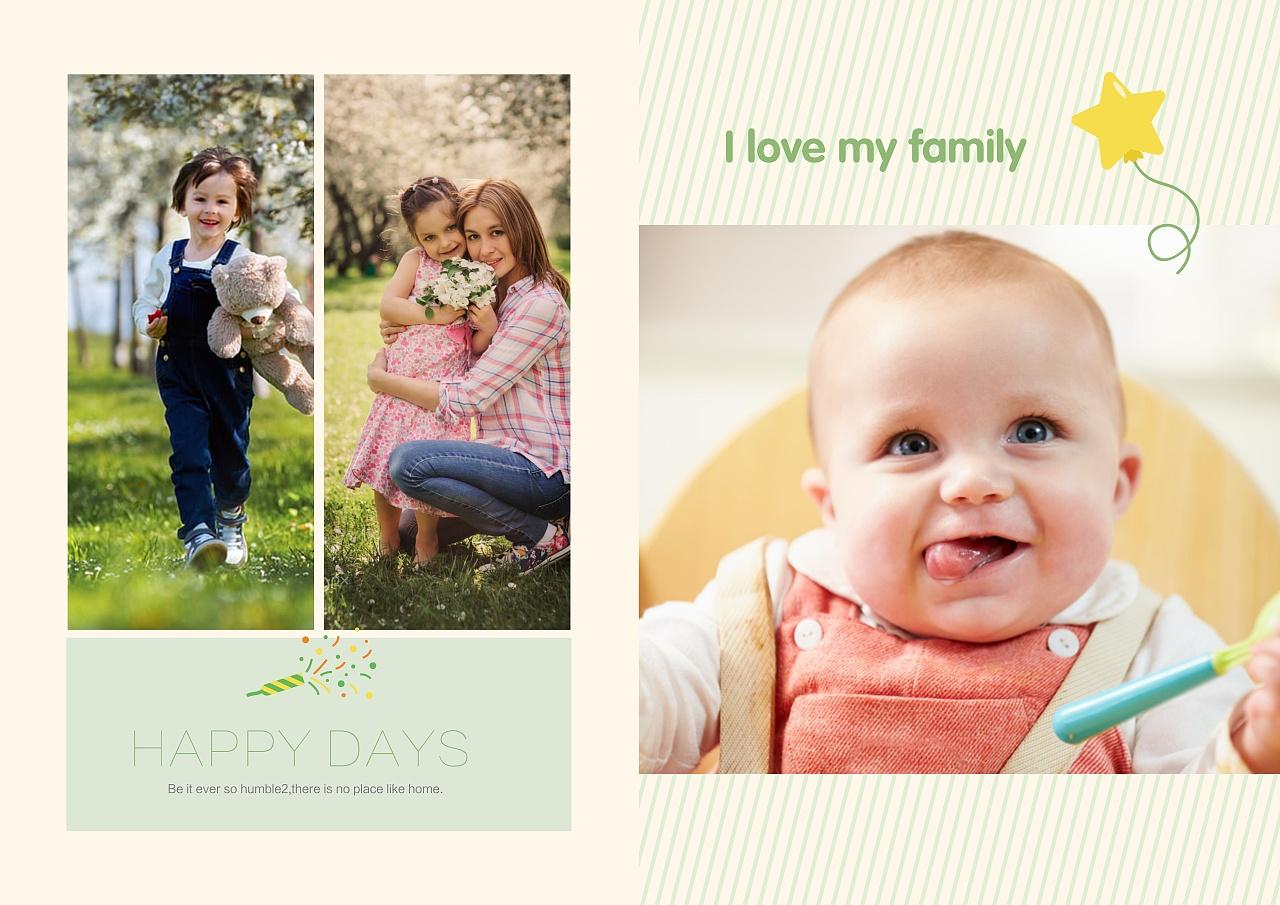 家庭亲子纪念册照片书|平面|书装/画册|图帮主 - 原创