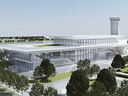 机场 设计渲染