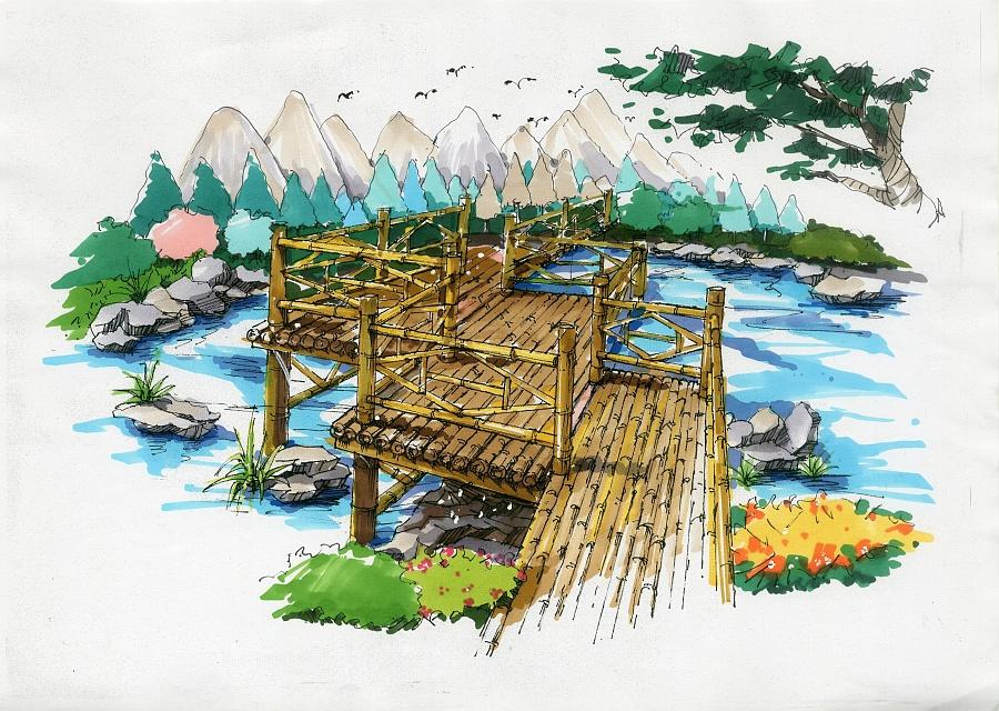 景观小品手绘|其他|其他|山里先森 - 原创设计作品