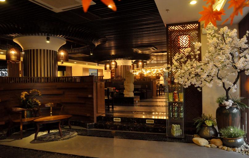 和惠日本料理店v电视-甘肃日式料理店装修设计看电视字体设计图片图片