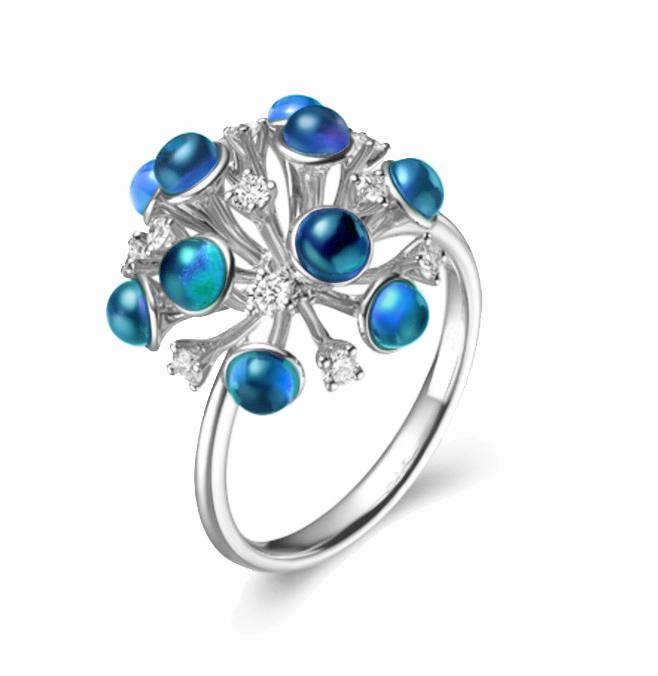 蒲公英首饰戒指设计