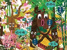 故宫全景地图插画项目合作