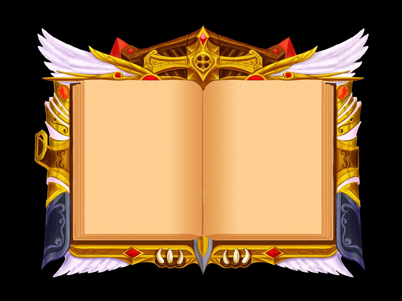 原创游戏ui之书本式界面图片