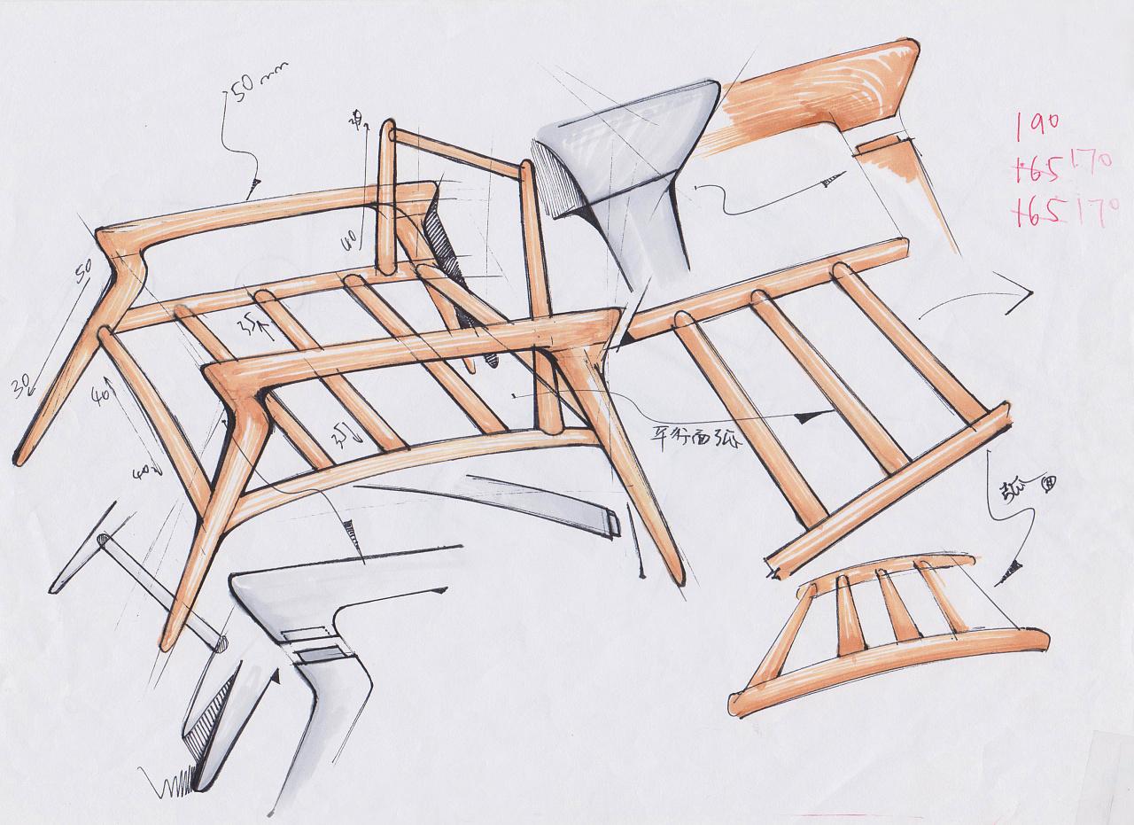 家具 简笔画 手绘 线稿 椅 椅子 1280_931