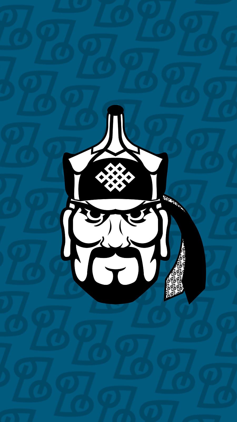 蒙古元素手机壁纸|图形/图案|平面|作图怪伊
