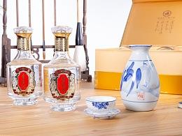 山西太原横峰淘宝摄影关于白酒场景设计拍摄样图
