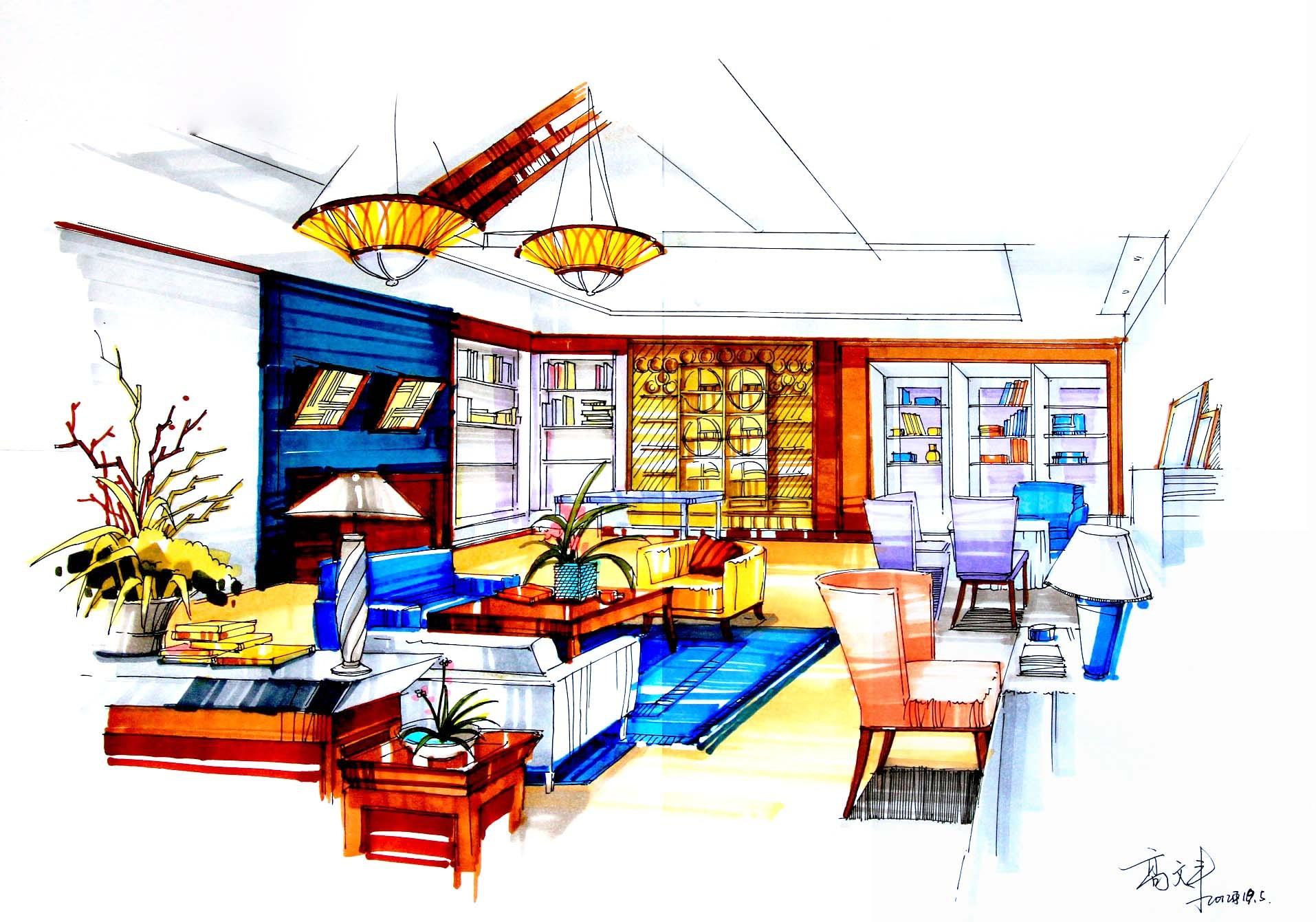 言有尽,绘无穷|内容|建筑设计|丰兄G-原创作品房地产精装修设计空间图片