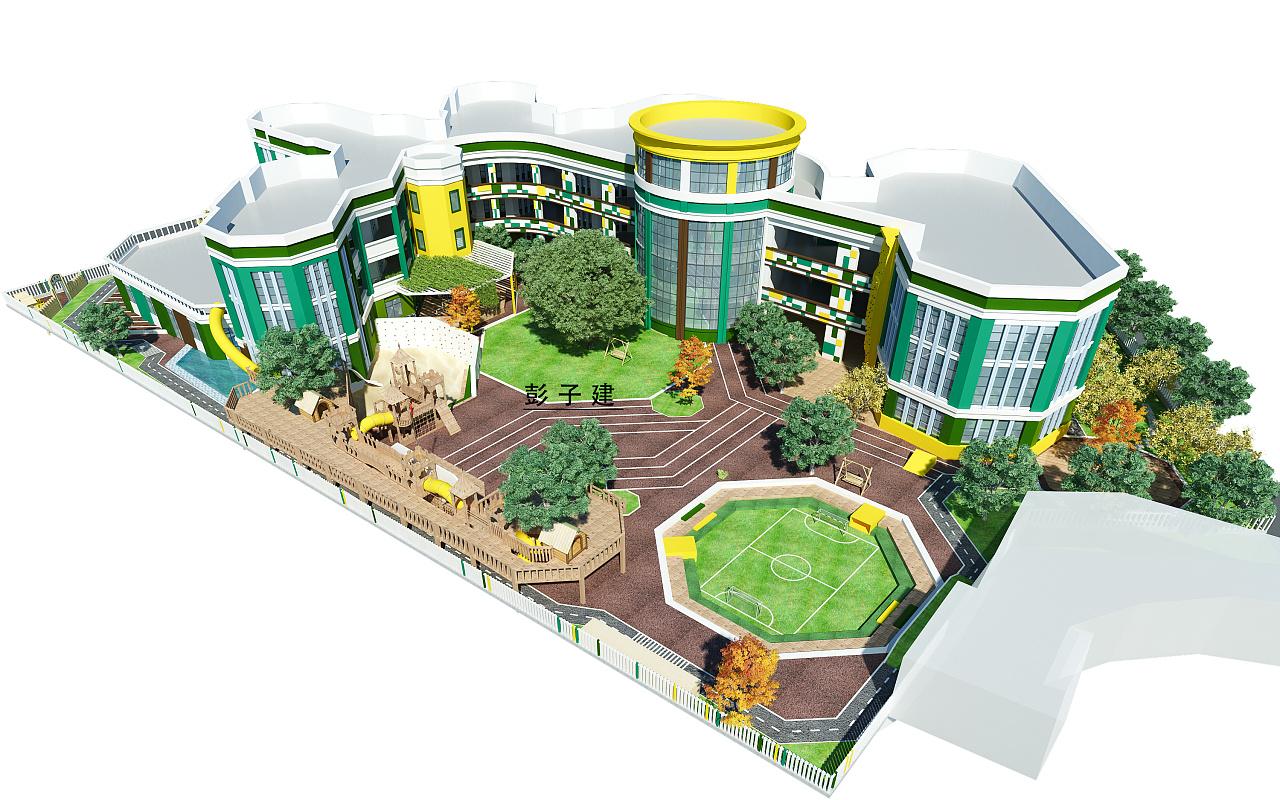 幼儿园设计 空间 景观设计 彭子建 - 原创作品 - 站酷图片