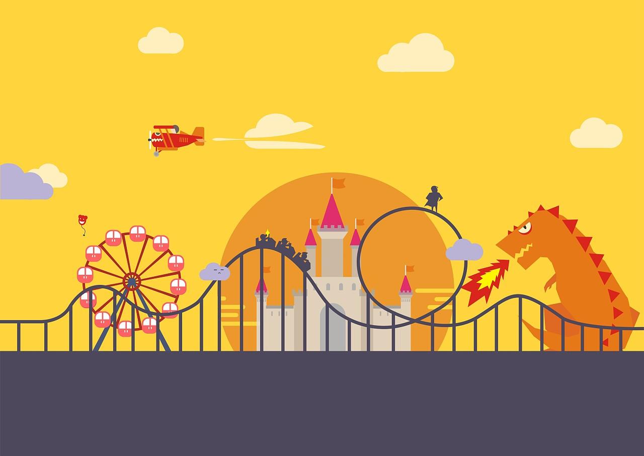 cdr 游乐园图标设计|平面|图案|温柱子 - 原创作品