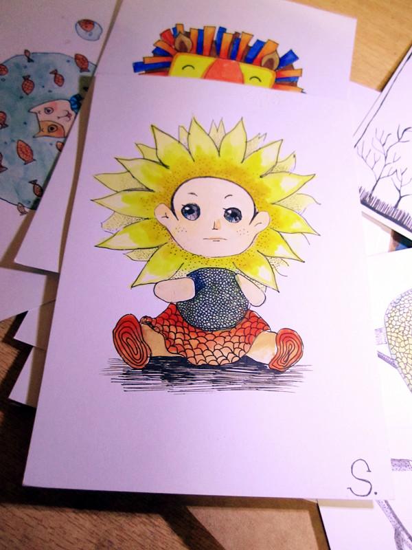 手绘明信片 |绘画习作|插画|米斯丁