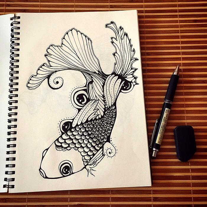 针管笔手绘练习