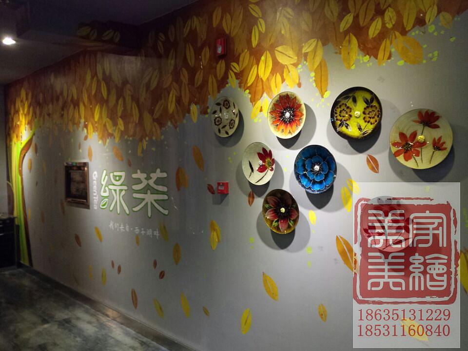 太原绿茶餐厅手绘墙绘墙体彩绘