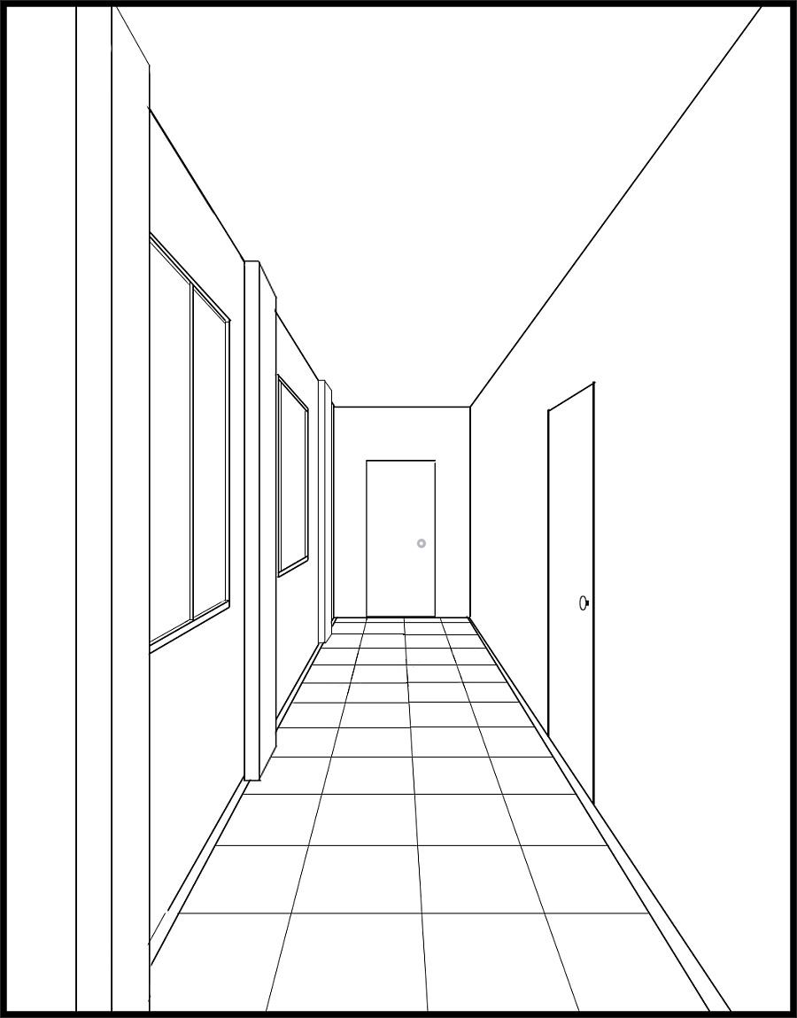 手绘板一点透视入门