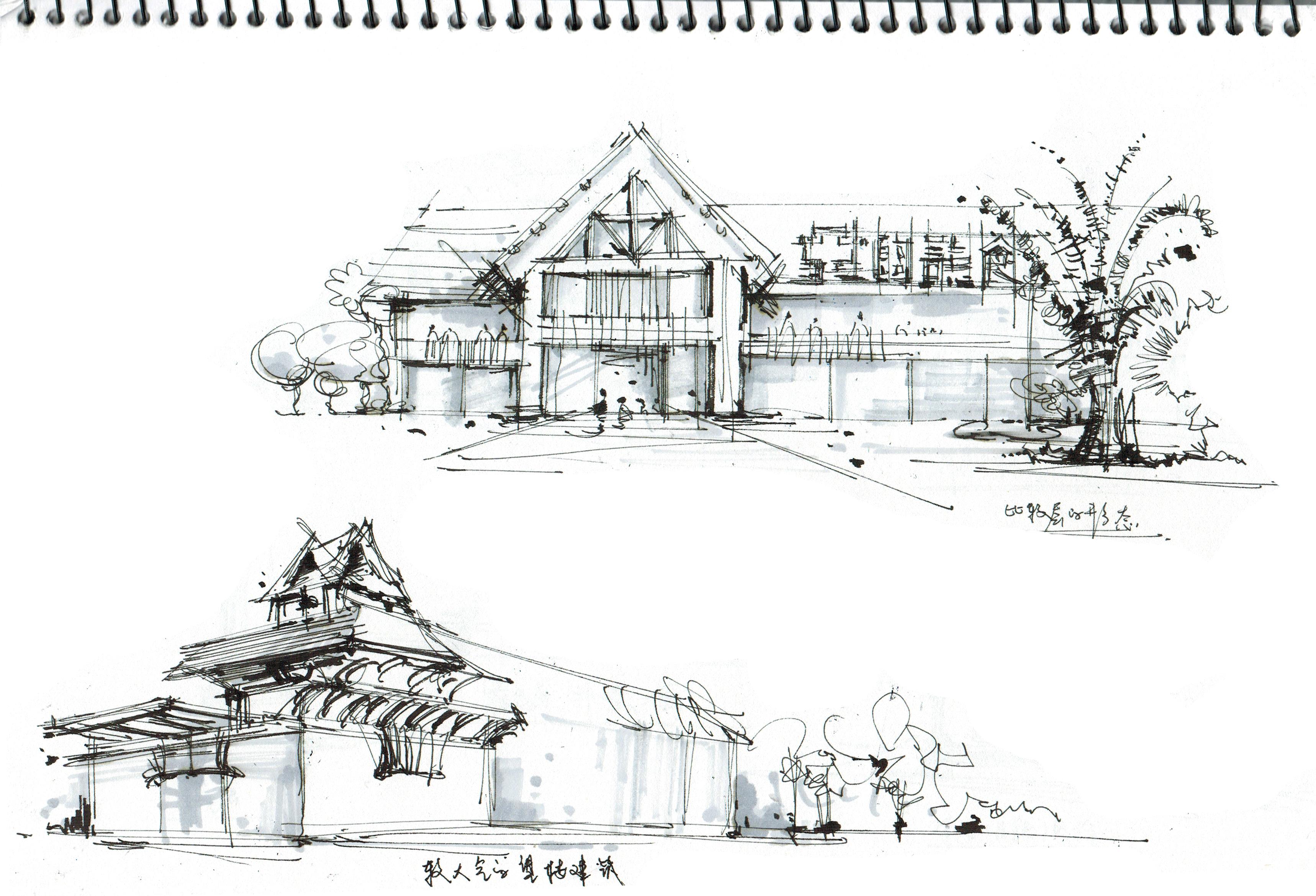 东南亚主题餐厅设计草图|插画|商业插画|lizengrui图片