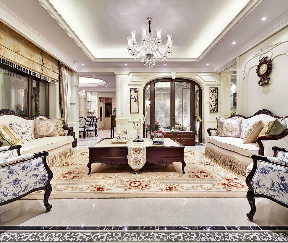 东营水城一生别墅装修,庄园所爱的欧式奢华别墅吗城里可以建空间