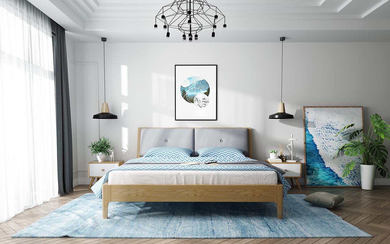 北欧卧室系列家具图片