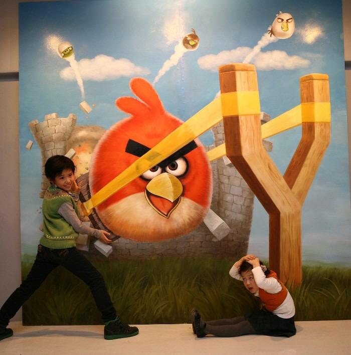 手绘北京3d立体画-3d立体画展-六一主题为小朋友而生