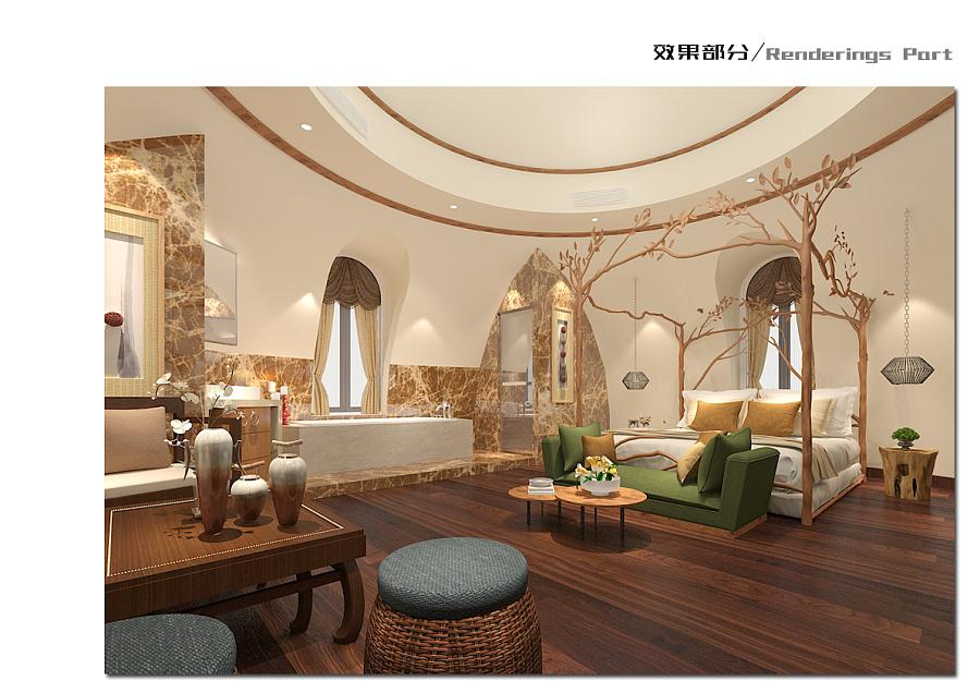 蒙古包客房田园-东南亚、酒店风格 室内设计 空卖门店铺如何设计装修图片