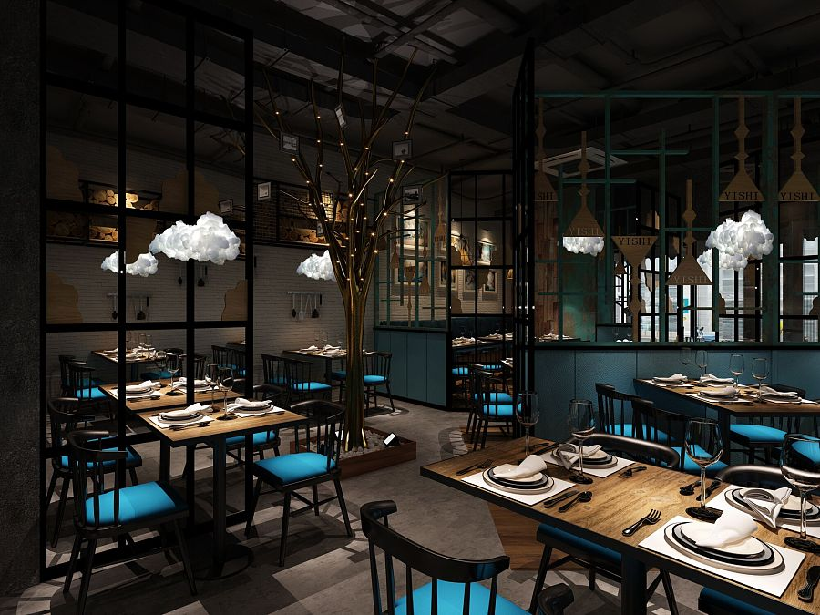 迪丽舍餐厅——工业风.|室内设计|空间|天斐云歌