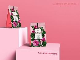 【徽小生·玫瑰·皇菊】花茶包装 by 澜帝品牌设计