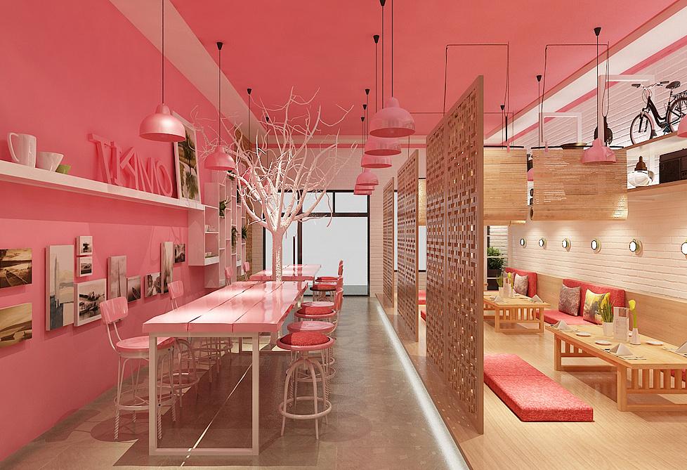 韩餐店面设计效果图|空间|展示设计 |餐饮设计 - 原创