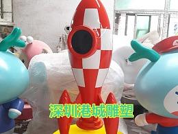 航空科普教育模型玻璃钢飞船火箭雕塑展览会美陈摆件