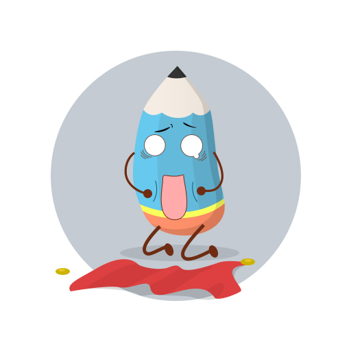 铅笔侠 卡通形象设计-学习类产品(原创)图片