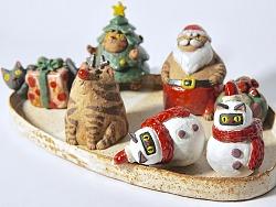 圣诞节的小喵精们