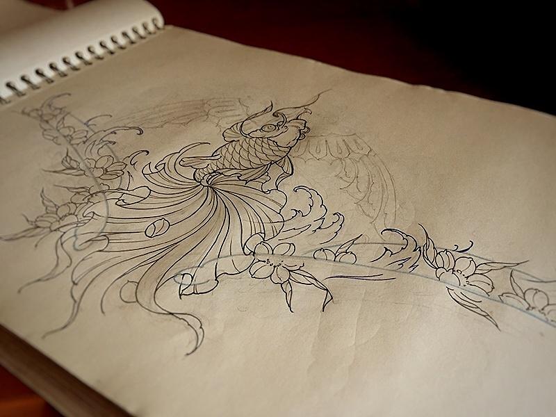 北京纹身店515刺青手稿