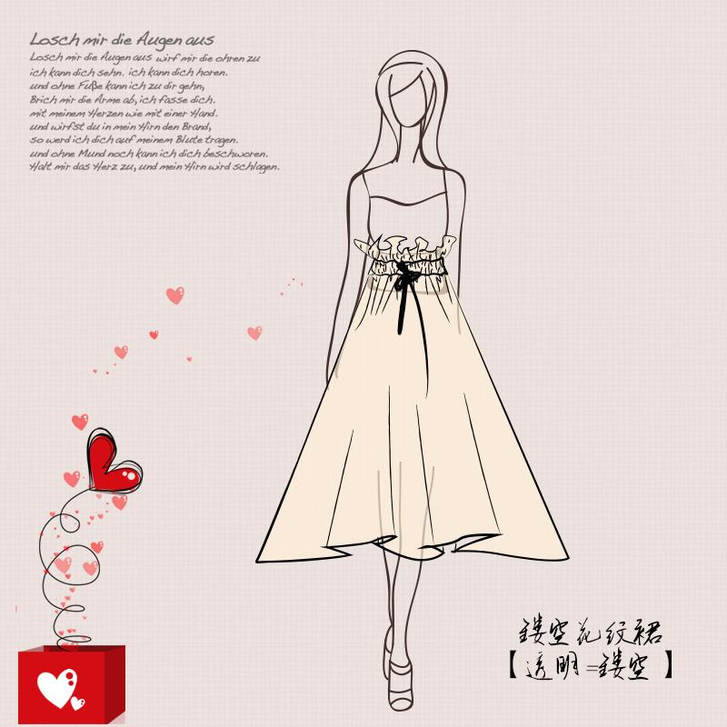 服装手绘人物卡通插画主图头图