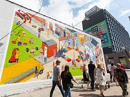 纽约大型墙画--艺峰旗下艺术家Justin Poulter
