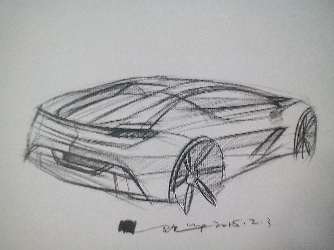 汽车手绘|工业/产品|交通工具|sj18380434309 - 原创