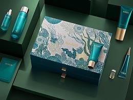 丸美深海藻净澈护肤系列套盒设计