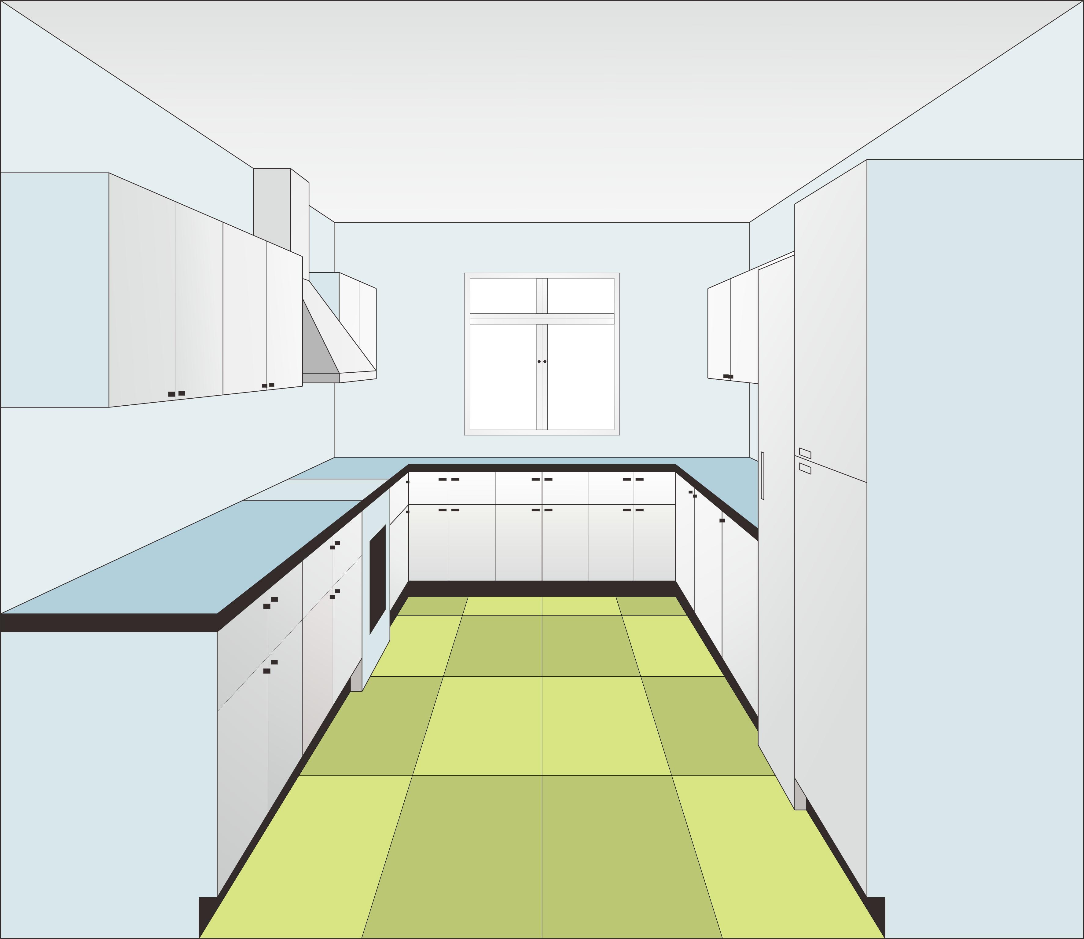 一点透视厨房彩绘