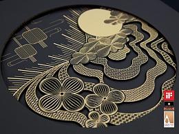 香港合子品牌設計作品   新世界月餅禮盒設計