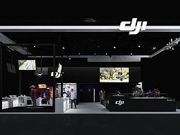 DJI-NAB专业展-简洁黑白灰展台