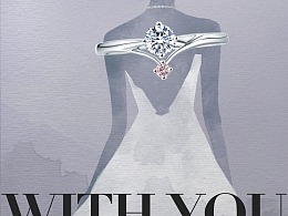 珠宝广告设计 水彩 水墨 时尚插画