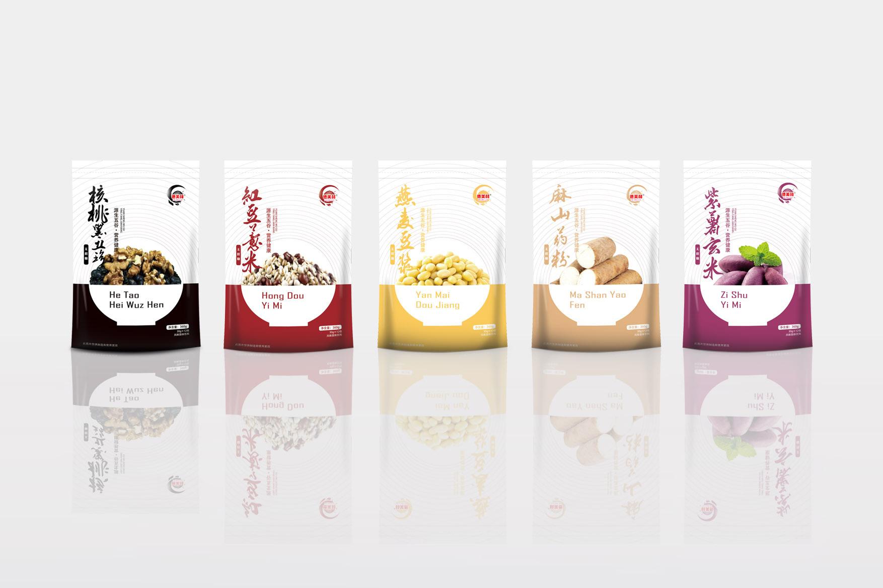 五谷杂粮粉包装【郭设计】【尔闻墨间】古迪室内装修设计图片