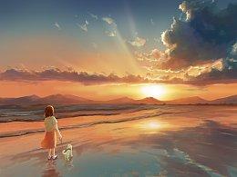 海边的夕阳(附带视频过程)