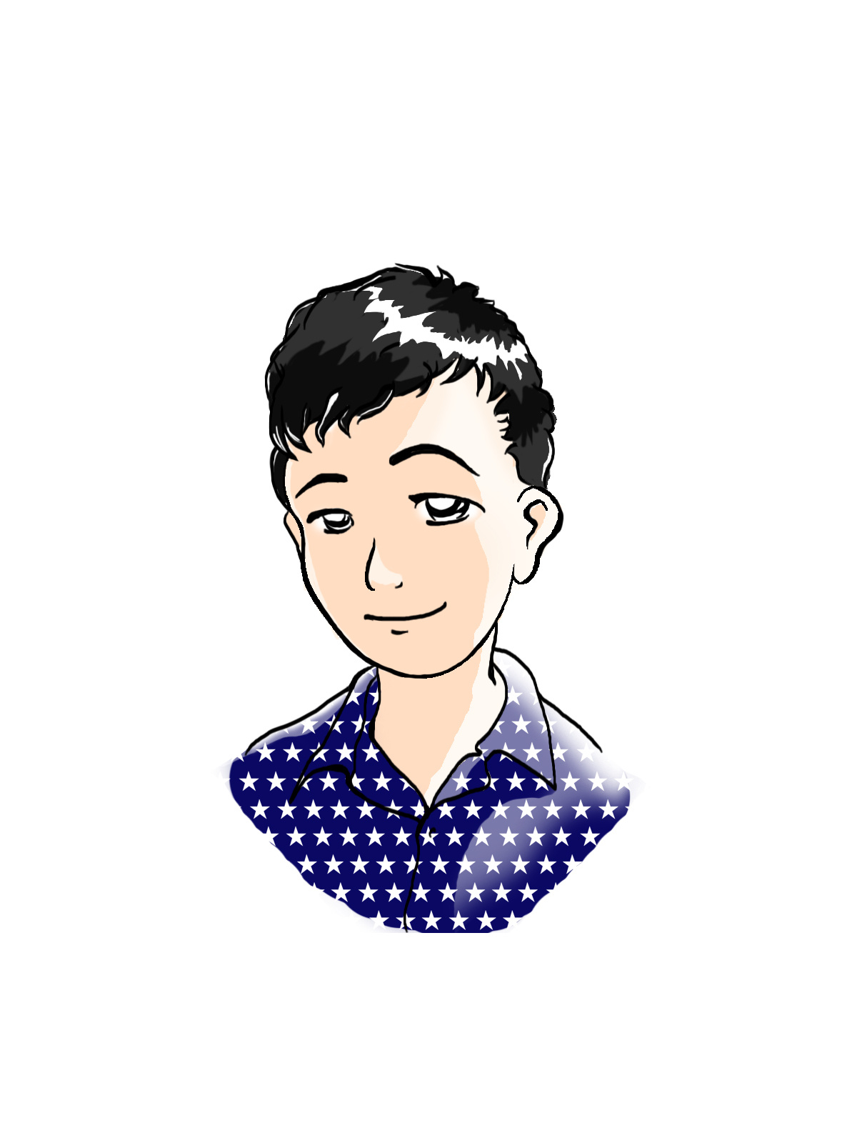 卡通自画像(微笑男孩boy)