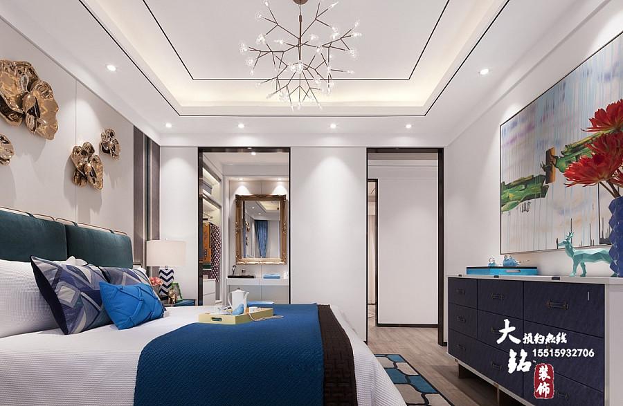 绿都管线华庭装修设计方案三室两厅绘制紫荆revit中装修案例图片