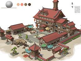 14张,商贸集市建筑设计