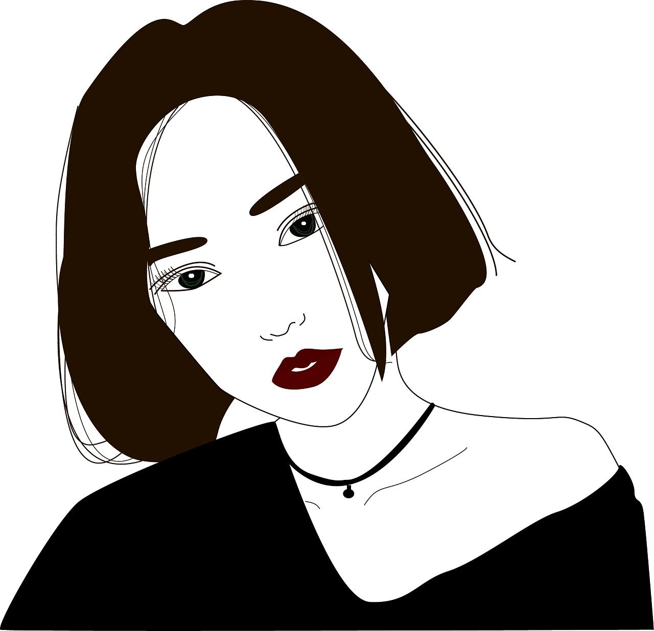 人物插画 女生头像