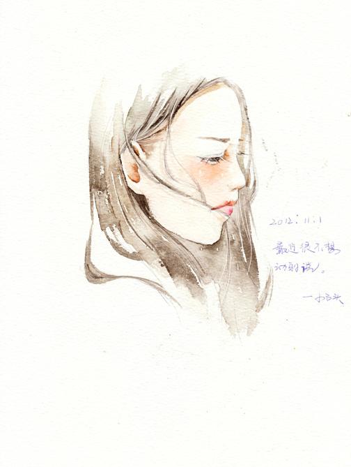 夏岚 清新手绘水彩插画 插画艺术