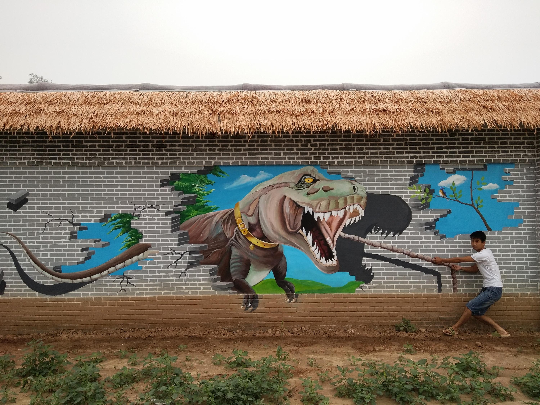 景区风景画,3d画,3d画合影,游乐场墙绘,墙体彩绘