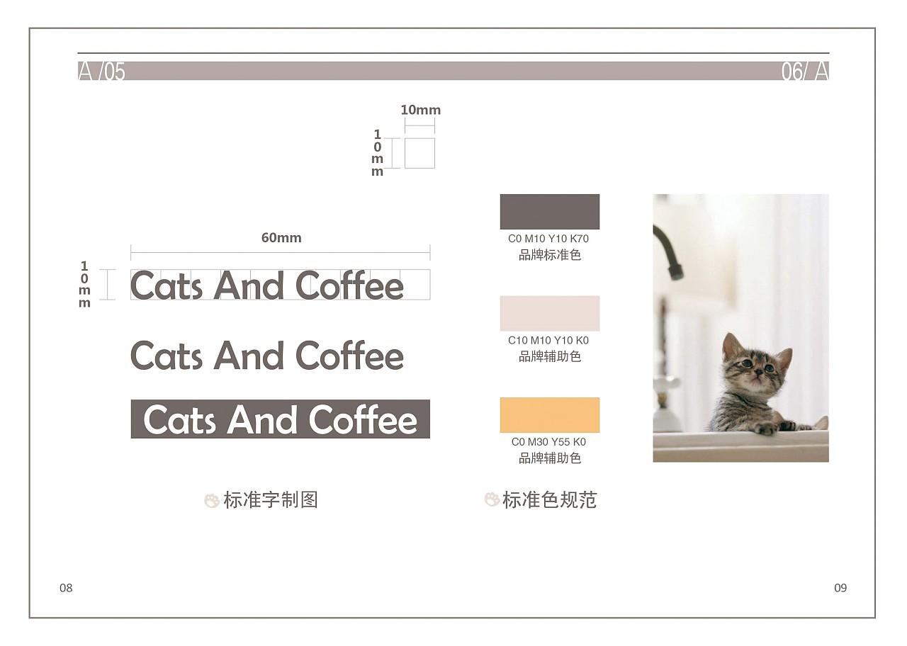 CAC猫咪咖啡馆VI设计图片